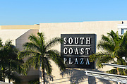 South Coast Plaza Signage In Costa Mesa