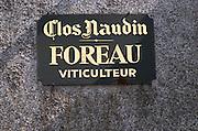 Clos Naudin, Foreau. Vouvray village, Touraine, Loire, France