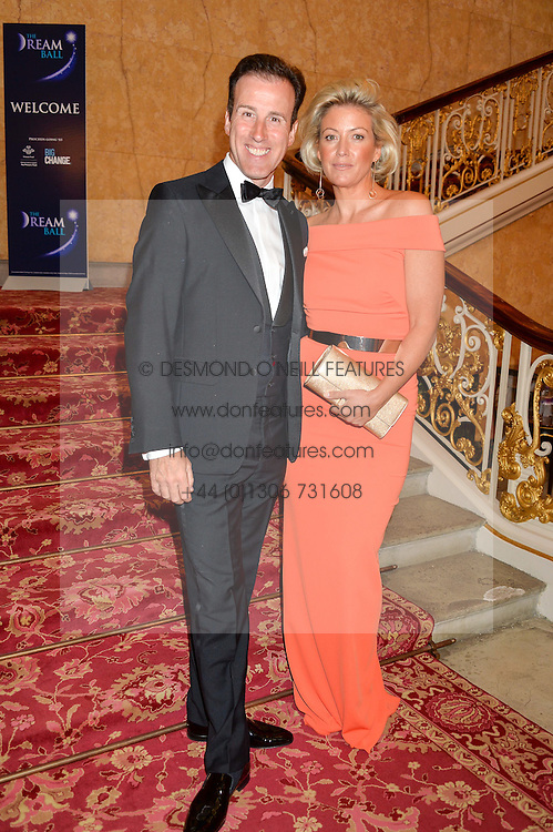 ANTON du BEKE and HANNAH SUMMERS at the Dream Ball in aid of The Princes's Trust and Big Chance held at Lancaster House, St.James's, London on 7th July 2016.