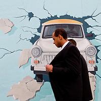 Berlin wall crash