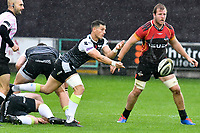 Rugby Union - 2019 / 2020 Guinness Pro14 - Ospreys vs. Southern Kings<br /> <br /> Shaun Venter of Ospreys passes the ball out, at The Liberty Stadium.<br /> <br /> COLORSPORT/WINSTON BYNORTH