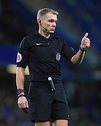 """Referee Graham Scott during the Emirates FA Cup, Third Round Replay at Stamford Bridge, London. PRESS ASSOCIATION Photo. Picture date: Wednesday January 17, 2018. See PA story SOCCER Chelsea. Photo credit should read: Mike Egerton/PA Wire. RESTRICTIONS: EDITORIAL USE ONLY No use with unauthorised audio, video, data, fixture lists, club/league logos or """"live"""" services. Online in-match use limited to 75 images, no video emulation. No use in betting, games or single club/league/player publications."""