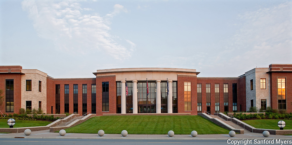 The Franklin Police Department headquarters designed by architect James Keenon and photographed by Sanford Myers in Franklin, TN.
