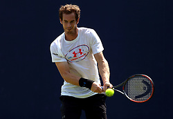 Great Britain's Andy Murray during a practice session ahead of day two of the 2017 AEGON Championships at The Queen's Club, London.