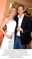 LADY EMILY COMPTON and MR BEN BLOOMFIELD, at a party in London on 7th May 2003.	PJJ 58
