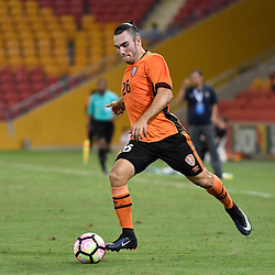 BRISBANE, AUSTRALIA - JANUARY 31: Nicholas D'Agostino of the Roar in action during the second qualifying round of the Asian Champions League match between the Brisbane Roar and Global FC at Suncorp Stadium on January 31, 2017 in Brisbane, Australia. (Photo by Patrick Kearney/Brisbane Roar)