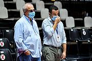 Giuseppe Cuccurese, Andrea Sini<br /> Happy Casa Brindisi - Banco di Sardegna Dinamo Sassari<br /> Discovery+ Supercoppa 2021 - Final Eight - Quarti di Finale<br /> LBA Legabasket Serie A UnipolSAI 2021/2022<br /> Bologna, 18/09/2021<br /> Foto L.Canu / Ciamillo-Castoria