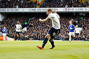 Tottenham Hotspur Forward Harry Kane (10)scores a goal (score 2-0) during the Premier League match between Tottenham Hotspur and Everton at White Hart Lane Stadium, London, England on 5 March 2017. Photo by Andy Walter.