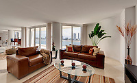 Modern Decoration in Apartment with Ocean View.
