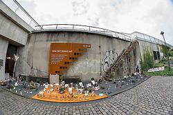 04.09.2015, Karl-Lehr-Strasse, Duisburg, GER, Gedenkstaette Loveparade Duisburg, im Bild Gedenkstaette am ehemaligen Zugang zum Veranstaltungsgelaende // The Loveparade memorial Karl-Lehr-Strasse in Duisburg, Germany on 2015/09/04. EXPA Pictures © 2015, PhotoCredit: EXPA/ Eibner-Pressefoto/ Hommes<br /> <br /> *****ATTENTION - OUT of GER*****