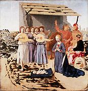 The Nativity' 1470-1485: Piero della Francesca (c1422-1492) Italian artist.