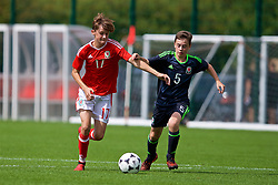 NEWPORT, WALES - Wednesday, July 25, 2018: Zak Williams and Adam Tunnadine during the Welsh Football Trust Cymru Cup 2018 at Dragon Park. (Pic by Paul Greenwood/Propaganda)