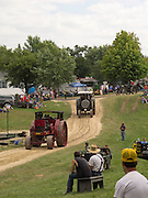 Antique steam tractors on parade; Rock River Thresheree, Edgerton, WI; 2 Sept 2013