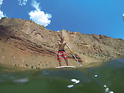 SHOT 6/8/16 11:49:04 AM - Flaming Gorge Reservoir straddles the Utah-Wyoming border and was completed in 1964. The reservoir is mainly in southwest Wyoming and partially in northeastern Utah. The northern tip of the reservoir is 10 miles southeast of Green River, Wyoming, 14 miles southwest of Rock Springs, Wyoming, and 43 miles north of Vernal, Utah. Visitors enjoy world class fishing, hiking, boating, windsurfing, camping, backpacking, cross-country skiing, and snowmobiling within Flaming Gorge National Recreation Area, which is operated by Ashley National Forest. (Photo by Marc Piscotty / © 2016)