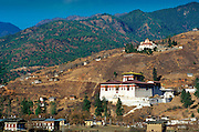 Paro Dzong and ancient watchtower, Paro, Bhutan