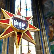 Interior of St Vitus Cathedral in Prague Castle