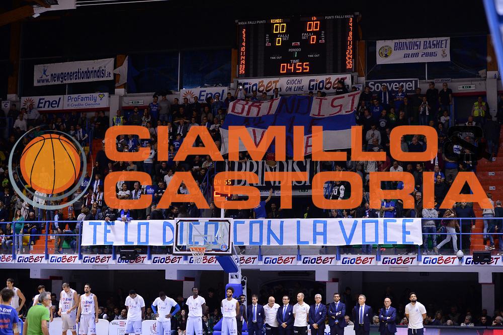 DESCRIZIONE : Brindisi  Lega A 2015-15 Enel Brindisi Dolomiti Energia Trento<br /> GIOCATORE : Ultras Tifosi Spettatori Pubblico Enel Brindisi<br /> CATEGORIA : Ultras Tifosi Spettatori Pubblico<br /> SQUADRA : Enel Brindisi<br /> EVENTO : Lega A 2015-2016<br /> GARA :Enel Brindisi Dolomiti Energia Trento<br /> DATA : 25/10/2015<br /> SPORT : Pallacanestro<br /> AUTORE : Agenzia Ciamillo-Castoria/M.Longo<br /> Galleria : Lega Basket A 2015-2016<br /> Fotonotizia : Enel Brindisi Dolomiti Energia Trento<br /> Predefinita :