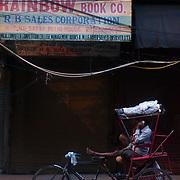 Rickshaw waiting for potencial customers at Chandni Chowk.
