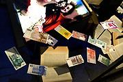 Perspreview 50 jaar Koninklijk Paleis Amsterdam.<br /> <br /> Op de foto: Gulden Briefjes