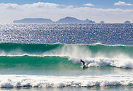 ocean beach whangarei heads, poor knights across the horizon