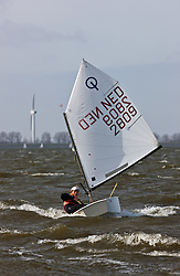 © Sander van der Borch. Ijselmeer, Medemblik. Practice day dutch Optimist kernploeg (22 march 2009).