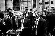 Silvio Berlusconi lascia il Senato dopo aver incontrato i senatori e deputati di Forza Italia. Roma 13 Ottobre 2015.  Christian Mantuano / OneShot <br /> <br /> Silvio Berlusconi leaving the Senate after meeting with the senators and deputies of Forza Italy. Rome 13 October 2015. Christian Mantuano / OneShot
