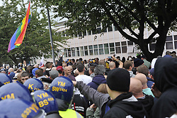 Rotherham England<br /> 13 September 2014 <br /> EDL  (English Defence League) Justice for the Rotherham 1400 <br /> <br /> <br /> Image © Paul David Drabble <br /> www.pauldaviddrabble.co.uk