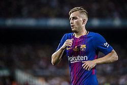 August 13, 2017 - Barcelona, Catalonia, Spain - FC Barcelona forward DEULOFEU looks on during the Spanish Super Cup Final 1st leg between FC Barcelona and Real Madrid at the Camp Nou stadium in Barcelona (Credit Image: © Matthias Oesterle via ZUMA Wire)