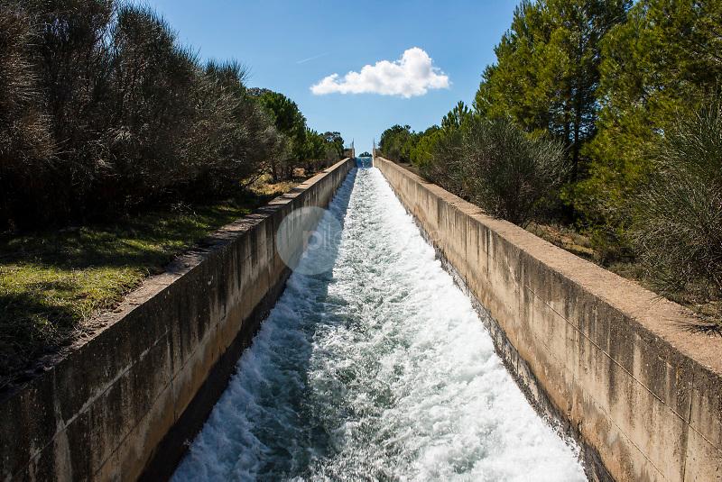 Trasvase Tajo-Segura. Embalse de Alarcón. La Mancha. Cuenca. España ©ANTONIO REAL HURTADO / PILAR REVILLA