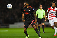 Jerome Sinclair of Sunderland (17) in action during the EFL Sky Bet League 1 match between Doncaster Rovers and Sunderland at the Keepmoat Stadium, Doncaster, England on 23 October 2018.