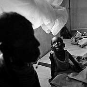 A young boy suffering from cataract seen at the stabilization centre of the Lokitaung District Hospital in the Turkana region of northwestern Kenya. Photo: Sanjit Das/Panos