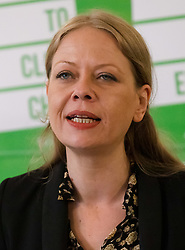 © Licensed to London News Pictures. 08/05/2019. London, UK.  Co-leader, Sian Berry speaking at the Green Party European election campaign launch, held at the Candid Arts Trust.  Photo credit: Vickie Flores/LNP