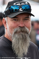 Jeff Fording at the Flying Piston Builder Breakfast at the Buffalo Chip during the 78th annual Sturgis Motorcycle Rally. Sturgis, SD. USA. Sunday August 5, 2018. Photography ©2018 Michael Lichter.