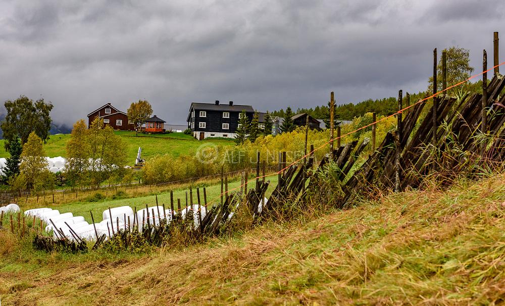 Farm at Leirflaten (SEl, Innlandet), Norway in early September.