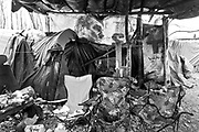 The abandoned, water logged and rat infested refugee camp - referred to as France's 'forgotten migrant camp' -- Grande-Synthe.<br /> April 2016. Basroch refugee camp.