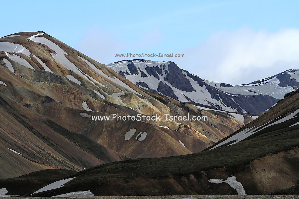 Haalda Mountain as seen from the Laugavegur Hiking trail, South-west Iceland
