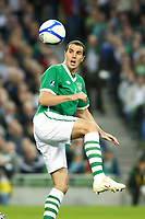 Football - UEFA Championship Qualifier - Republic of Ireland v Andorra<br /> John O'Shea (Rep of Ireland) in action in the UEFA Championship Group B Qualifier between the Republic of Ireland and Andorra at the Aviva Stadium in Dublin.
