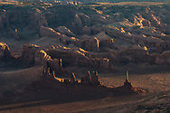 Monument Valley, Totem Pole, sunset, aerial, Arizona/Utah