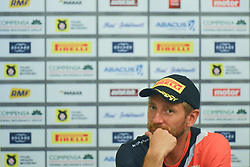 September 21, 2018 - Mikolajki, Poland - Aleksey Lukyanuk, a Russian rally driver, at the pre-rally press conference on day one of the PZM 75th Rally Poland, in Hotel GoÅ'Ä™biewski, Mikolajki..On Friday, September 21, 2018, in Mikolajki, Poland. (Credit Image: © Artur Widak/NurPhoto/ZUMA Press)
