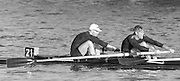 London, Great Britain.<br /> Oxford University BC. Bow, James Suenson-Taylor, 2. Chris CLARK. competing in the 1986 Fours Head of the River Race, Reverse Championship Course Mortlake to Putney. River Thames. Saturday, 15.11.1986<br /> <br /> [Mandatory Credit: Peter SPURRIER;Intersport images] 15.11.1986