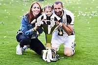 Giorgio Chiellini with family <br /> Esultanza Juventus Campione d'Italia . Celebration Juventus Italian championship winner <br /> Torino 21-05-2017 Juventus Stadium Football Calcio Serie A 2016/2017 Juventus - Crotone .<br /> Foto Insidefoto