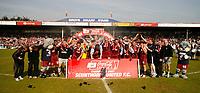 Photo: Steve Bond.<br />Scunthorpe United v Carlisle United. Coca Cola League 1. 05/05/2007.Scunthorpe United are crowned champions