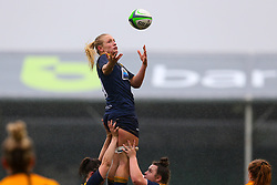 Alex Matthews of Worcester Warriors Women tries to catch a greasy ball at the line out - Mandatory by-line: Nick Browning/JMP - 24/10/2020 - RUGBY - Sixways Stadium - Worcester, England - Worcester Warriors Women v Wasps FC Ladies - Allianz Premier 15s