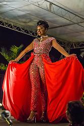 Evening Wear Segment.  Contestant #1 Kali Jackson.  St. John Festival Queen: 2015.  Winston W. Wells Ball Field.  St. John, Virgin Islands.  21 June 2015.  © Aisha-Zakiya Boyd