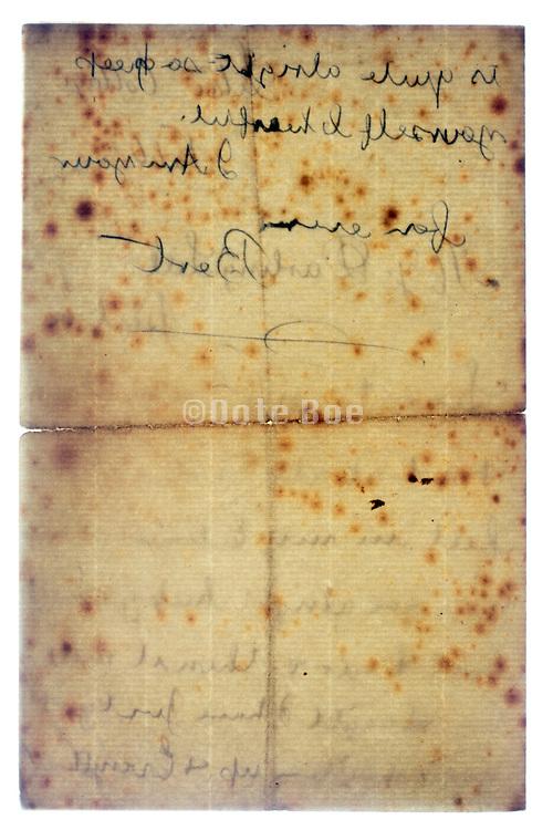 old letter document