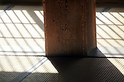Japanese tatami floor with atmospheric light and shadow