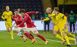 Jonas Wind (Danmark) under venskabskampen mellem Danmark og Sverige den 11. november 2020 på Brøndby Stadion (Foto: Claus Birch).