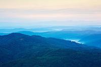 View from the Polish-Slovakian border on the peak of Mount Durkovec (1189 m) into Slovakia. Runina area, Slovakia / Poland.