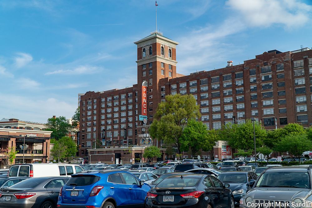Exterior view of Ponce City Market from the north side facing Ponce De Leon Ave Atlanta