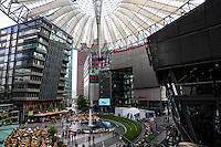 The Sony Center located at the Potsdamer Platz in Berlin, Germany. It opened in 2000.